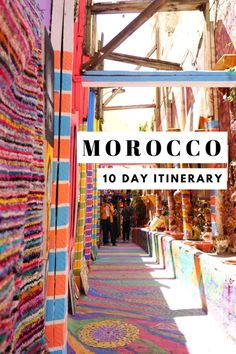Planning to visit Morocco? Here's a complete 10 day Morocco itinerary on everything you need to plan your trip! Where to stay, eat and do!