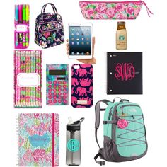 School Necessities by preppy-southern-girl on Polyvore featuring The North Face, Lilly Pulitzer, Vera Bradley and CamelBak