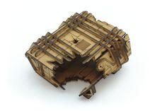 Laserskuren terräng till figurspel tillverkad i 3mm MDF. | Laser cut terrain for miniature games cut from 3mm MDF. Wood Watch, Laser Cutting, Miniatures, Wooden Clock, Minis