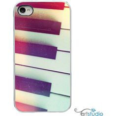 On Sale! Piano Keys Music Black White or Black Sides iPhone Case -... ($14) ❤ liked on Polyvore featuring accessories, tech accessories, phone cases, phones, cases, music, apple iphone cases, iphone case, iphone hard case and black and white iphone case