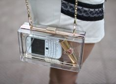 Clear Clutch bag as seen on I Want It All