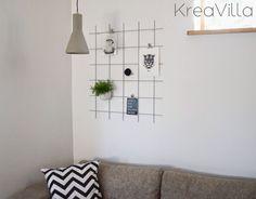 KreaVilla: Opslagstavle af metalgitter DIY