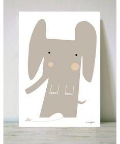 Lámina Elefante y Ratón