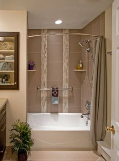 The Arista Bath Curved Shower Curtain Rod Curves Out At Its Center And In