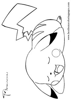 Pikachu Coloring Pages Printable  Free Printable Pikachu Coloring