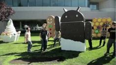 Calling All Ice Cream Sandwich Lovers - The guys over at Google bring in an ice cream-looking Android man to celebrate the development of 4.0.x software update code-named: Ice Cream Sandwich.
