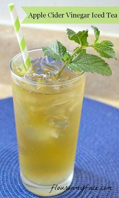 Apple Cider Vinegar Iced Tea @Julie 'Lemin' Heinz Vinegar #Sponsored