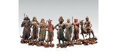 八大童子は不動明王の眷属だが、そうした「脇役感」のない、キャラの立った表現が魅力的。国宝「八大童子像」運慶作 鎌倉時代 12世紀(一部、南北朝時代 14世紀) 金剛峯寺蔵 (左から指徳童子、恵光童子、矜羯羅童子、制多伽童子、烏倶婆誐童子、清浄比丘童子、恵喜童子、阿耨達童子