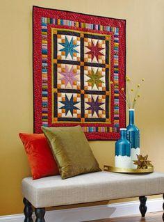 Estrella Bloque edredones de pared | AllPeopleQuilt.com