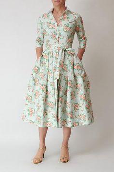 Shirt dress, flowers on mint Womens Clothing Stores, Clothes For Women, Organza Dress, Romania, Happy Shopping, Ruffles, Mint, Shirt Dress, Bridal