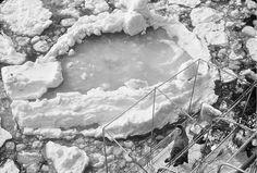Bebek sahilinde buz kütleleri.