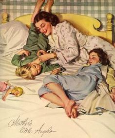 Mother's little angels. #vintage #mothers_day #parenting