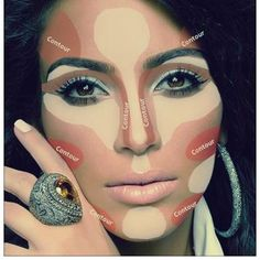 Face HAC #highlighting and #contouring #makeup