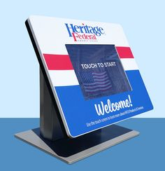 bright & patriotic bezel graphic for Heritage Federal Credit Union!