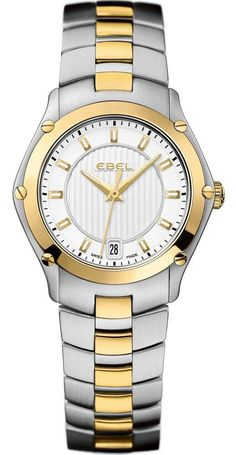 Ebel Watch Sport Lady 1216028 Watch available to buy online from with free UK delivery. Luxury Watch Brands, Amazing Watches, Gold Plated Bracelets, Antique Clocks, Sport Watches, Sports Women, Jewelry Design, Quartz, Lady