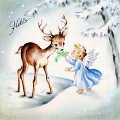 angel and deer