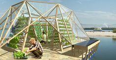 GreenBuilding magazine - Jellyfish Barge. Una serra agricola galleggiante ecosostenibile