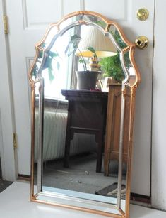 ea53a9d0e104 LaBarge Hollywood Regency Gilt Gold Silver Frame Wall Mirror   HollywoodRegency Mirrors