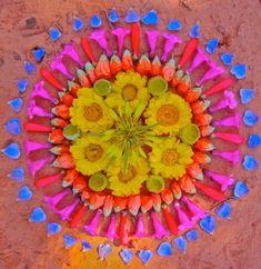 Flower Mandalas by Kathy Klein    Via BLDG 25 the Free People Blog