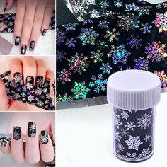 Shellhard 1 Roll Holographic Christmas Snowflake Nail Foils Nail Art Transfer Sticker 4 x 120CM #ChristmasNails