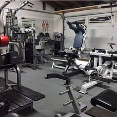 Top 75 Best Garage Gym Ideas - Home Fitness Center Designs - Home Gym - Home Gym Garage Gym, Home Gym Basement, Gym Room At Home, Dream Home Gym, Best Home Gym, Fitness Design, Bodybuilder, Home Made Gym, Indoor Gym