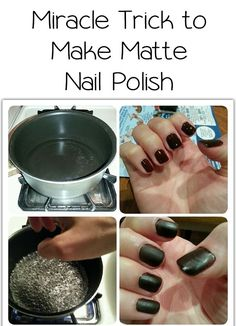 Stop spending money on matte nail polish and transform any glossy nail polish you have into a matte one! Fnd out Miracle Trick to Make Matte Nail Polish