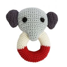 We love the organic crochet rattles from Franck & Fischer, choose from Joakim the Elephant, Pingo the Penguin and Jill the Monkey.