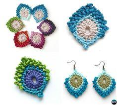 #Crochet #Peacock #Motif Free Pattern-10 Crochet Peacock Projects Free Patterns