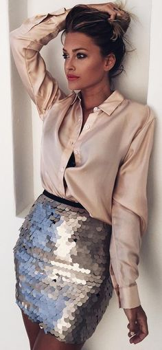 #summer #trending #outfits | Satin + Sequins