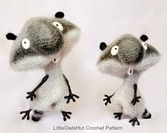 091 Funny Raccoon with wire frame Amigurumi Crochet Pattern