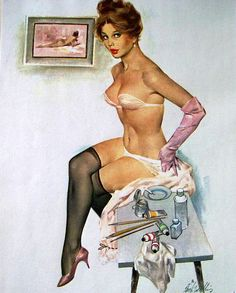 (Fritz Willis Artist Pin-up) Loving this one!