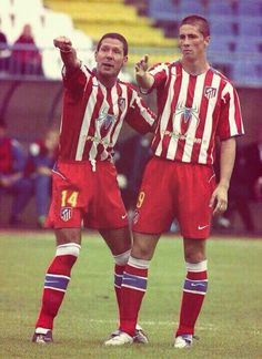 Diego Simeone (Atlético Madrid, 1994–1997, 98 apps, 21 goals + 2003–2005, 36 apps, 2 goals) and Fernando Torres (Atlético Madrid, 2001–2007, 214 apps, 82 goals).