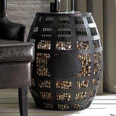 Barrel Cork Catcher Side Table - Wine Enthusiast