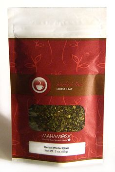 Mahamosa Herbal Winter Elixir Tea 2 oz (with ginger root, orange peel, mint leaves, eucalyptus, ginger orange flavor, tea), Herbal Herb Tea Loose Leaf (Looseleaf) Blend ** Visit the image link more details. (This is an affiliate link) #TeaSamplers