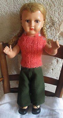 ancienne Poupée Bella  47cm.+ vêtements