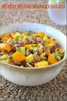 Mixed Bean and Mango Salad      How can a summer special post ends without a mango recipe