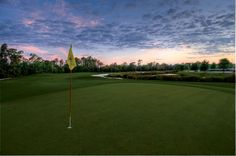Sunset on The Legends at Orange Lake Golf.