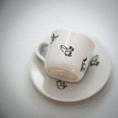 """Kafíčko """"presíčko"""" s origami / Zboží prodejce Bored Mama Origami, Mugs, Tableware, Espresso, Paper, Espresso Coffee, Dinnerware, Tablewares, Origami Paper"""
