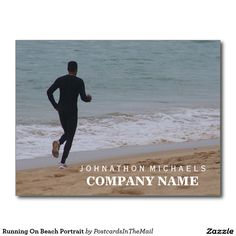 Running On Beach Portrait Postcard