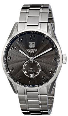 7ac35d74bcf Tag Heuer Men s Carrera Black Dial Dress Watch