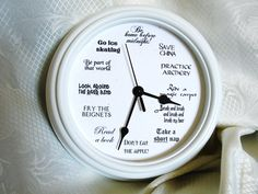 Disney Princesses clock 8.75 inches by LetterThings on Etsy