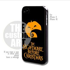Nightmare Before Christmas - For iPhone 4 / 4s | TheCustomArt - Accessories on ArtFire
