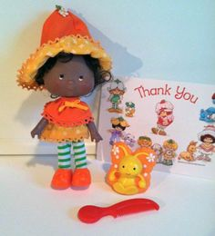 Vintage Strawberry Shortcake Doll: Orange Blossom + Pet Marmalade Butterfly I loved orange blossom!!