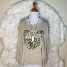 Zara Trafaluc Heart Crop Top T Shirt Unique pieace heart fingerprints tshirt. Zara Tops Crop Tops