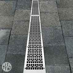 Geo Squares linear drain by Aquaduct