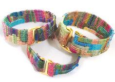 Silk bracelet woven on a Mirrix Loom