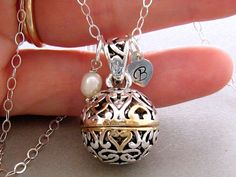 Prayer Box Necklace Secret Compartment Locket Necklace Hearts and Cross Personalized Prayer Box Necklace Locket Sterling Silver Chain
