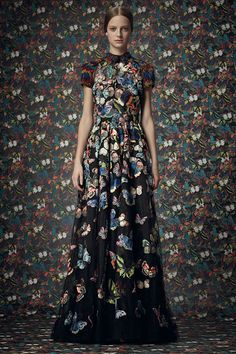 futter... Butterfly... by Valentino beautiful butterfly maxi dress,great for evening or formal day wear,great for wedding real frida kahlo inspired fashion piece,great for folk,boho or contemporary mexican style lovers...look good with a traditional flower crown and layers of jewellery