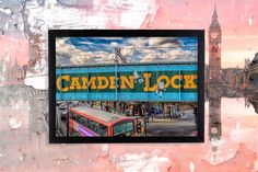 London Photography - London Camden Lock Day Time -Framed Poster Art Print A2 Photographer: Balazs Romsics by TheRedbusGallery on Etsy https://www.etsy.com/uk/listing/276143446/london-photography-london-camden-lock