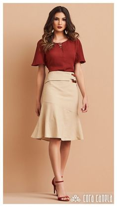 Jw Moda, Work Fashion, Fashion Looks, Eliza Doolittle, Men's Wardrobe, Sewing Clothes, Skirt Outfits, Wardrobes, Business Women